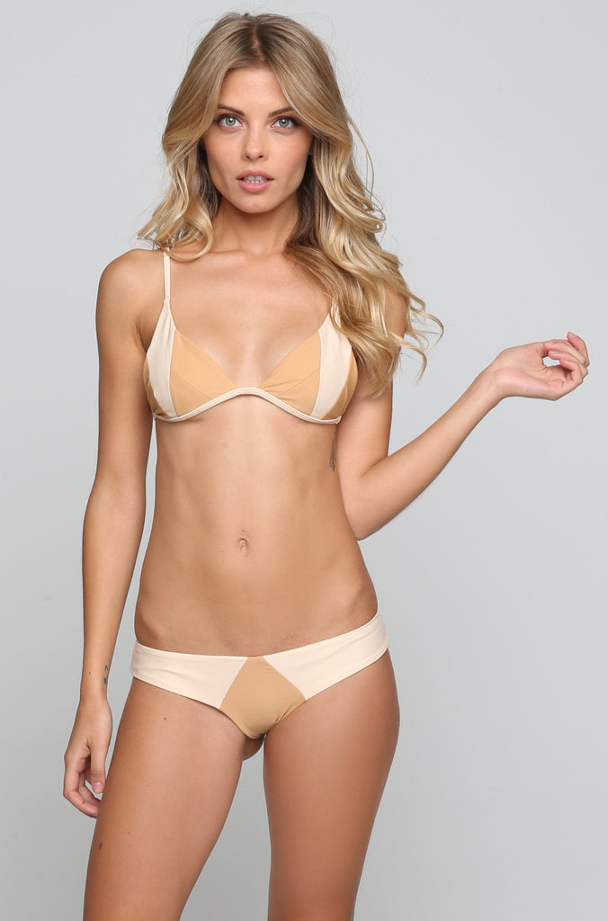 Stone Fox Swim Byron Bikini Bottom in Bare Naked Block|ISHINE365 - 4