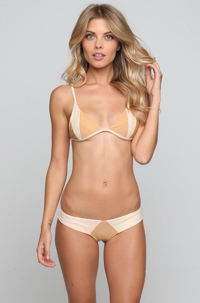 Stone Fox Swim Byron Bikini Bottom in Bare Naked Block|ISHINE365 - 2