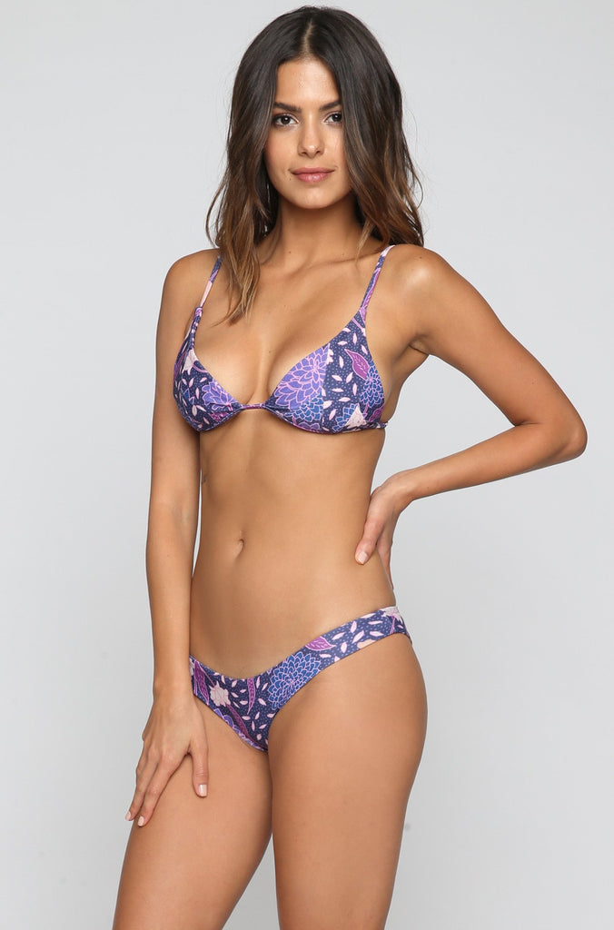 Stone Fox Swim Malibu Bikini Bottom in Dahlia|ISHINE365 - 3