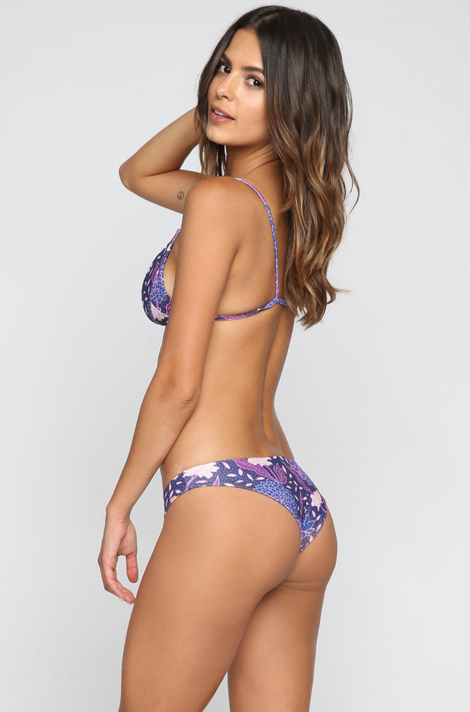 Stone Fox Swim Malibu Bikini Bottom in Dahlia|ISHINE365 - 1