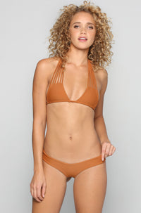 Stone Fox Swim Tucker Bikini Bottom in Bronzed|ISHINE365 - 3