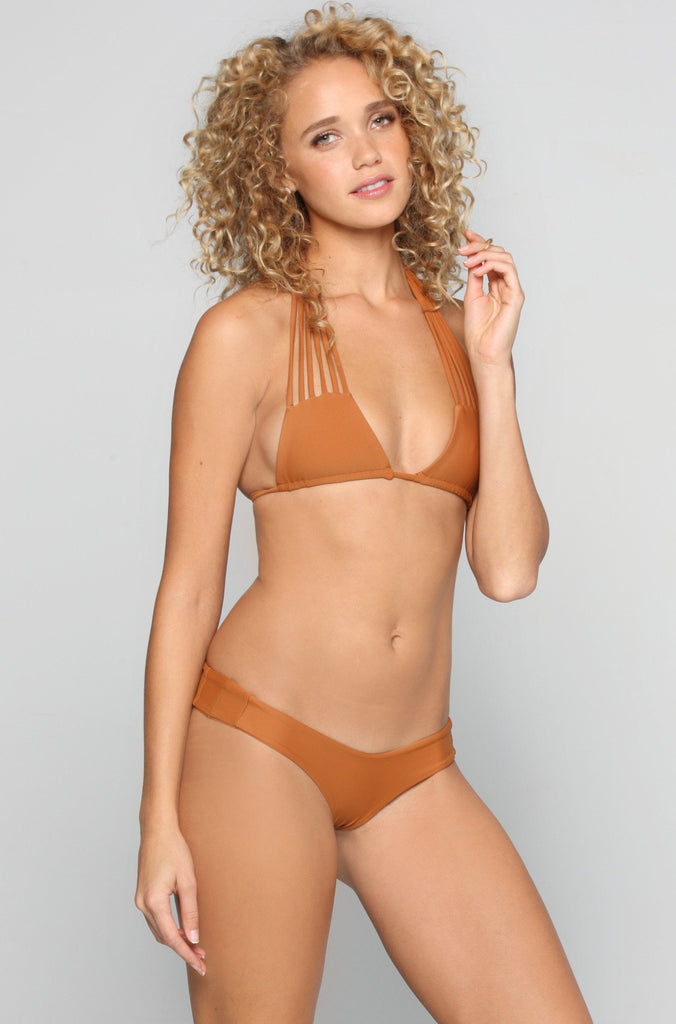 Tucker Bikini Bottom in Bronzed