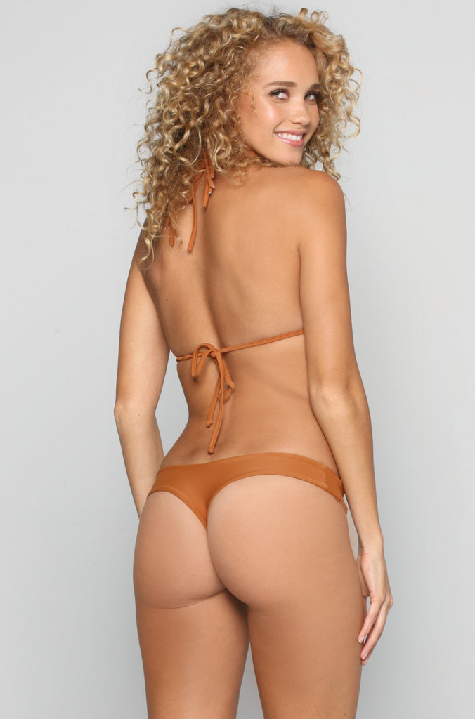 Stone Fox Swim Tucker Bikini Bottom in Bronzed|ISHINE365 - 1