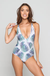Palma One Piece in Petroleaf