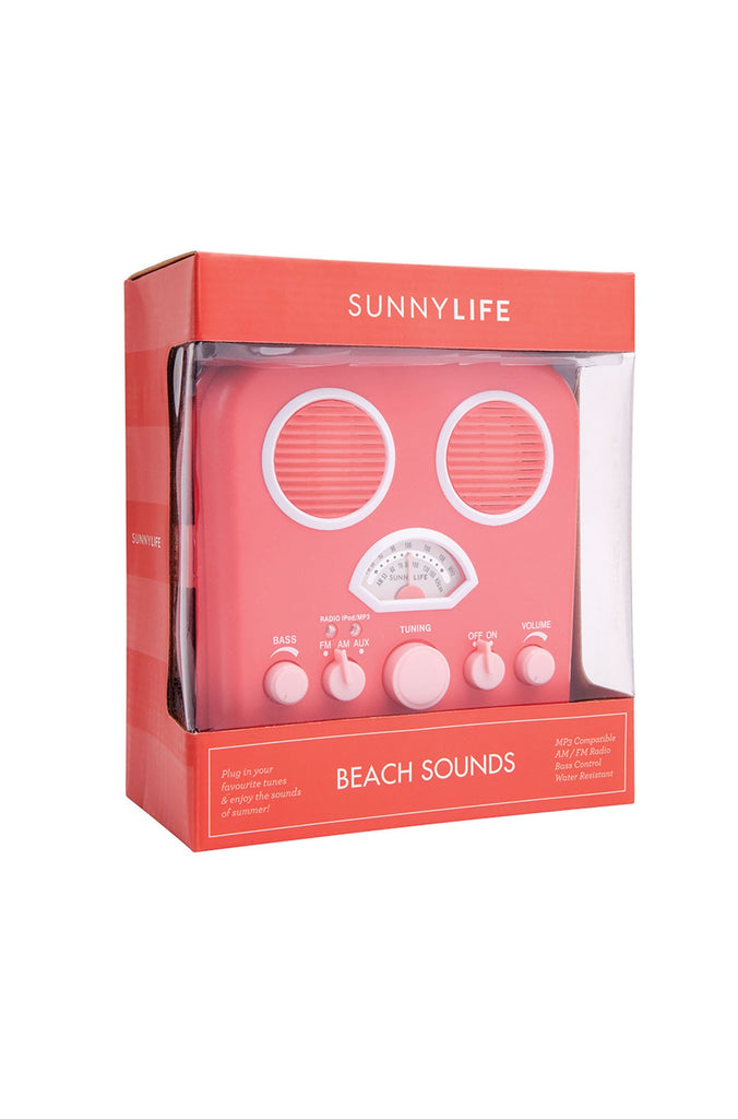 Sunny Life Beach Sounds in Hot Coral|ISHINE365 - 2