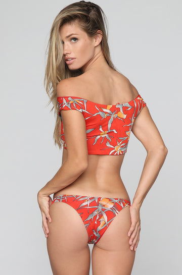 Swim Like A Mermaid Swinger Bikini Bottom in Sunset|ISHINE365 - 1