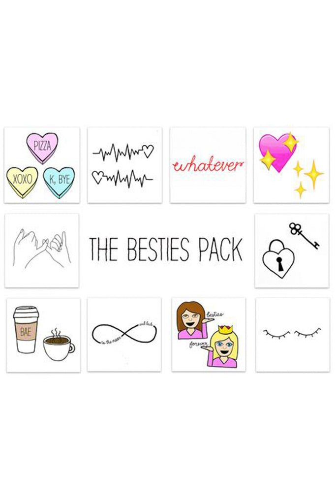 The Besties Pack Temporary Tattoos
