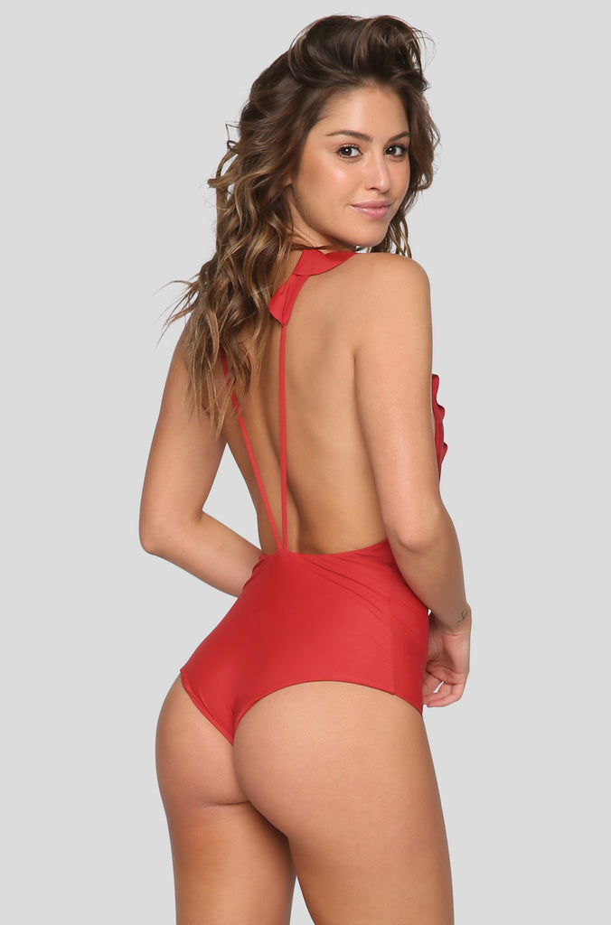 Victoria One Piece in Chillipepper