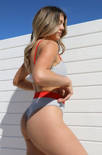 Ivanna Bottom in Red Colorblock