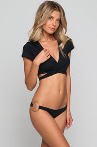 Super Nova Bikini Bottom in Eco Black