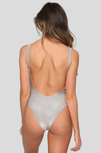 Leah Bodysuit in Moonlight Metallic