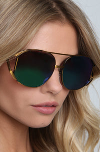 Dynasty Deluxe Sunglasses in Brass