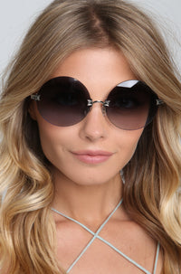 Pearl Sunglasses in Antique Silver/Black
