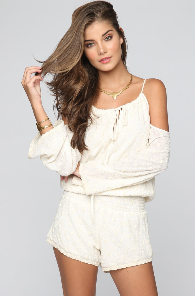 Natalie Romper in Shell