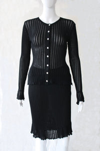 Yves Saint Laurent knitted skirtsuit