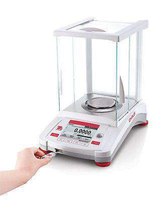 OHAUS AX224N ADVENTURER ANALYTICAL BALANCE 220 g 0.0001 g 0.1 mg - 2 YEAR WARRANTY NTEP