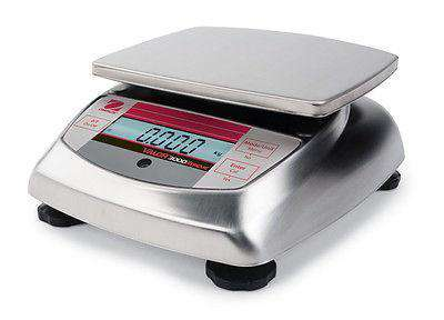 OHAUS VALOR V31XW6 6000g 1g STAINLESS STEEL COMPACT PRECISION FOOD SCALE WRNTY
