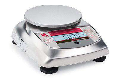 OHAUS VALOR V31XH202 200g 0.01g STAINLESS STEEL COMPACT PRECISION FOOD SCALE