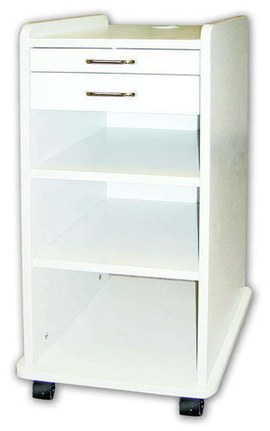 TPC Dental TMC-180-W Utility Mobile Cabinet (White) with Warranty