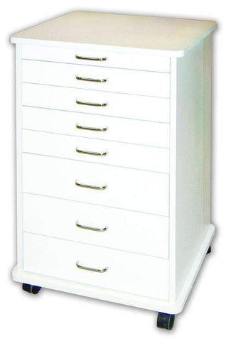 TPC Dental TMC-140-W Doctor's Mobile Cabinet (White) with Warranty