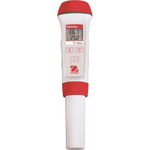 Ohaus Pen Meter ST20S Salinity pen meter measurement range 0.0 - 80ppt temperature display
