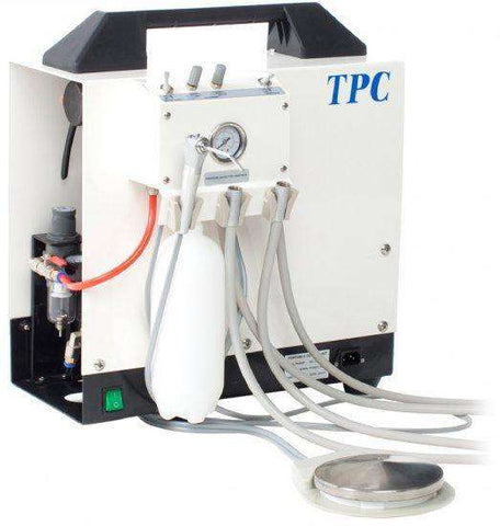 TPC Dental PC-2635 Portable Delivery System (4 hole) with Warranty Portable compressor only