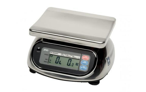 A&D Weighing SK-2000WP Washdown Compact Scale, 4.4lb x 0.002lb, Legal for Trade with Warranty