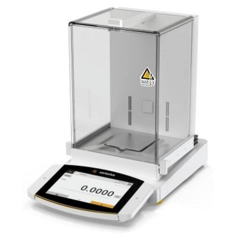 Sartorius Cubis II Polyrange Precision (Milligram) with High Resolution Color Touch Screen, Manual Doors with Standard Draft Shield