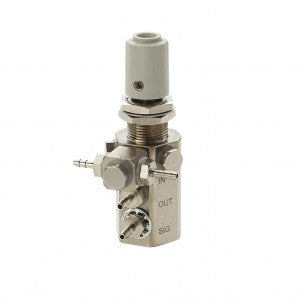 DCI Water Relay Combo Valve with Gray Knob and Double Barb Swivel