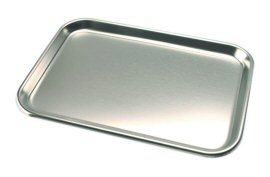 "DCI Tray, Stainless Steel, 9-3/4"" x 13-1/2"""