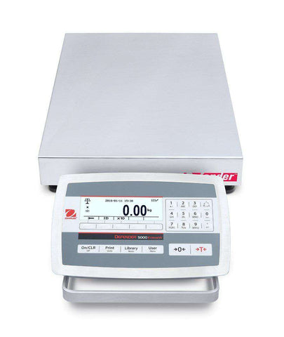 Ohaus D52XW125RQV5 Defender 5000 Low Profile Bench Scale, 250 x 0.01 lbs with Warranty