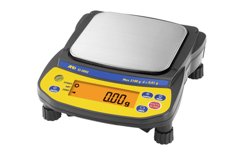 A&D Weighing Newton EJ-3002 Portable Balance, 3100g x 0.01g with External Calibration with Warranty