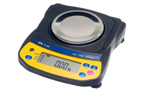 A&D Weighing Newton EJ-120 Portable Balance, 120g x 0.01g with External Calibration with Warranty