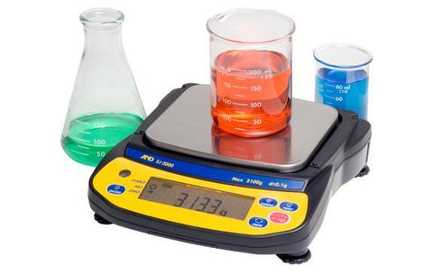 A&D Weighing Newton EJ-2000 Portable Balance, 2100g x 0.1g with External Calibration with Warranty