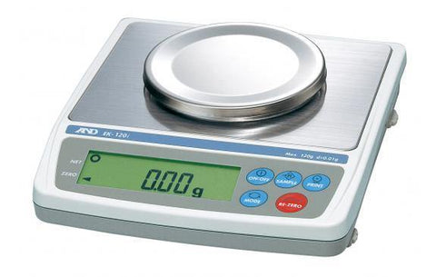 A&D Weighing EK-120i Compact Balance, 120g x 0.01g with External Calibration with Warranty