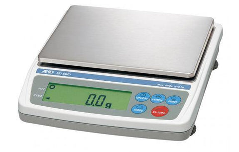 A&D Weighing EK-600i Compact Balance, 600g x 0.1g with External Calibration, NTEP with Warranty