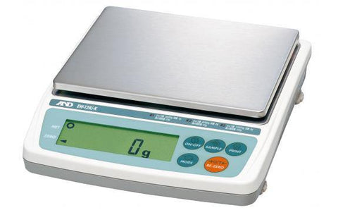 A&D Weighing EW-12Ki Compact Balance, 3000/6000/12000g x 1/2/5g, External Calibration NTEP with Warranty