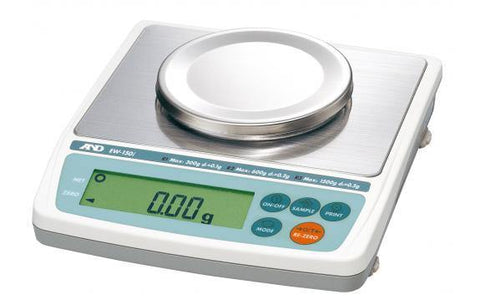 A&D Weighing EW-150i Compact Balance, 3000/6000/12,000g x 1/2/5g with External Calibration with Warranty