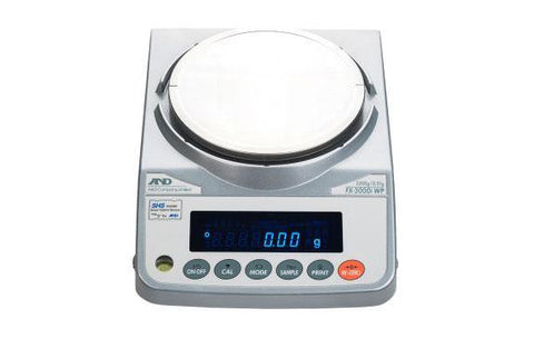 A&D Weighing FX-3000iWPN Precision Balance 3200g x 0.01g with External Calibration, IP65, Legal for Trade - 5 Year Warranty