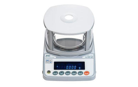 A&D Weighing FX-300iWPN Precision Balance 320g x 0.001g with External Calibration, IP65, Legal for Trade - 5 Year Warranty