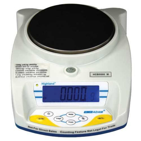 Adam Equipment HCB 103aM 100g, d=0.001g e=0.01g, Highland Approved Portable Precision Balance - 24 Month Warranty