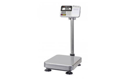 A&D Weighing HV-60KCP High Resolution Platform Scale, 30/60/150lb x 0.01/0.02/0.05lb with Medium Platform and Printer, Legal for Trade with Warranty