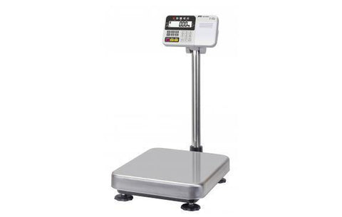 A&D Weighing HW-100KCP Platform Scale, 200lb x 0.02lb with Large Platform and Printer with Warranty