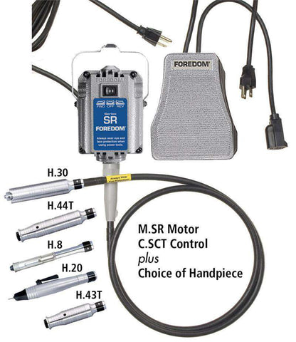 Foredom SR Hang-Up Motor Metal Speed Control M.SR-SCT Choice of Handpiece, Handpiece Set, Foredom, Ramo Trading