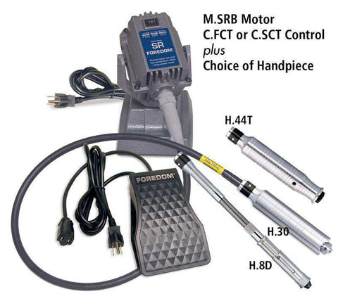 Foredom SRB Bench Motor, Choices of Speed Control and Handpiece - Ramo Trading