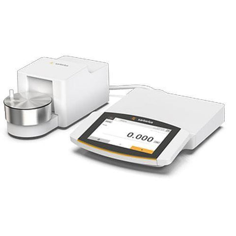 Sartorius Cubis II Micro Balance with High Resolution Color Touch Screen, Automatic Round Glass Draft Shield (10.1g x 1.0µg)