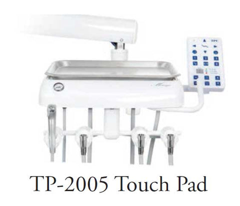 TPC Dental TP-2005 Touchpad control installed on dental chair