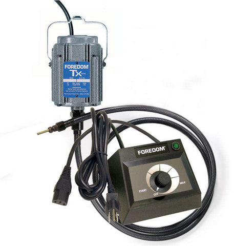 Foredom M.TXH-EMX Hang-Up Motor with Square Drive Shafting and Dial Control 15,000 RPM - Ramo Trading