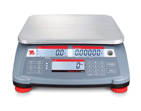 OHAUS RANGER RC31P3 6lb Read 0.002lb MULTIPURPOSE COMPACT COUNTING SCALE With WARRANTY NTEP
