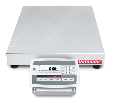 Ohaus D52XW125WTX5 Defender 5000 Low Profile Washdown Bench Scale, 250 x 0.01 lbs with Warranty